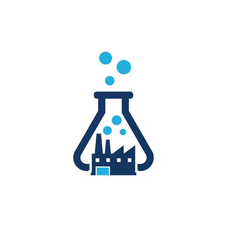 Factory Lab Logo Icon Design  イラスト・ベクター素材