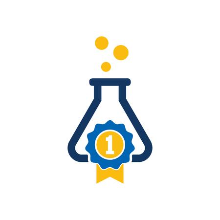 Best Lab Logo Icon Design Illustration