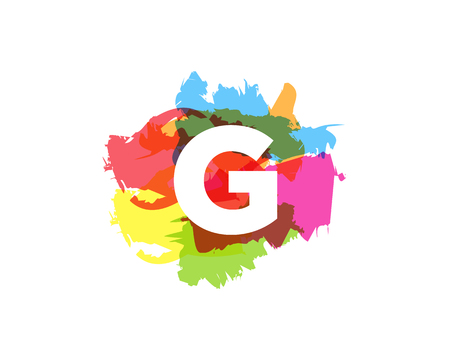 G Letter Abstract Paint Colorful Logo Icon Design