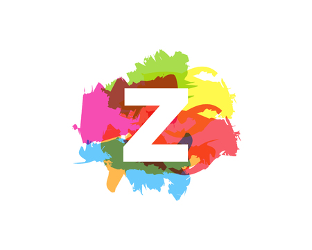 Z Letter Abstract Paint Colorful Logo Icon Design