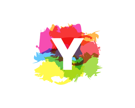 Y Letter Abstract Paint Colorful Logo Icon Design