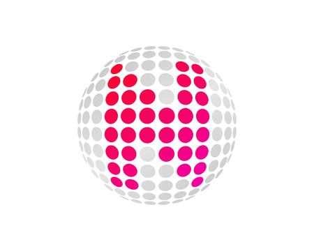 N Letter Dot Sphere Logo Icon Design