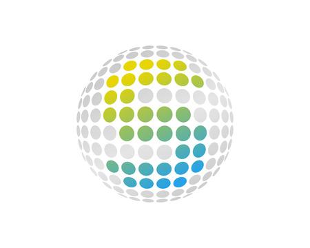 S Letter Dot Sphere Logo Icon Design Ilustração