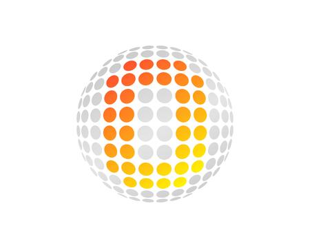 O Letter Dot Sphere Logo Icon Design