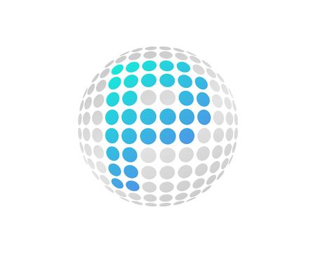 P Letter Dot Sphere Logo Icon Design Illustration