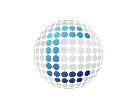 C Letter Dot Sphere Logo Icon Design