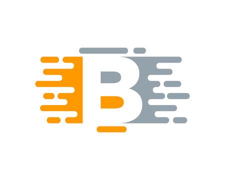 B Letter Paint Color Logo Icon Design Illustration