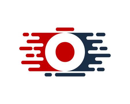 O Letter Paint Color Logo Icon Design