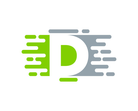D Letter Paint Color Logo Icon Design