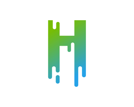 H Letter Paint Wet Logo Icon Design