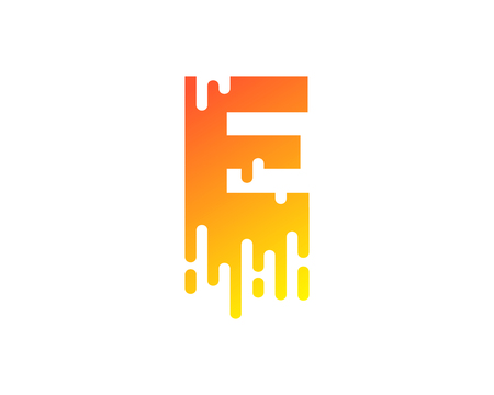 E Letter Paint Wet Logo Icon Design