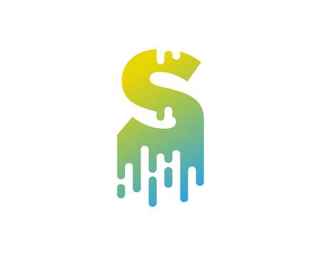 S Letter Paint Wet Logo Icon Design