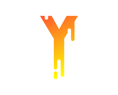 Y Letter Paint Wet Logo Icon Design