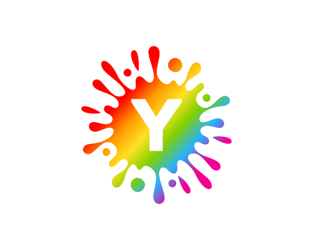 Y Letter Splash Logo Icon Design