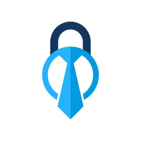Job Lock Logo Icon Design