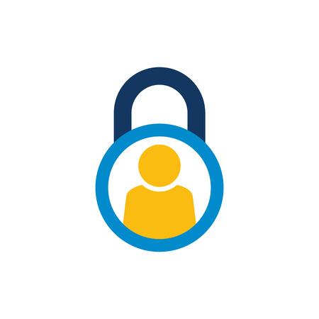 People Lock Logo Icon Design