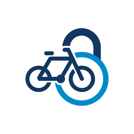 Bike Lock Logo Icon Design