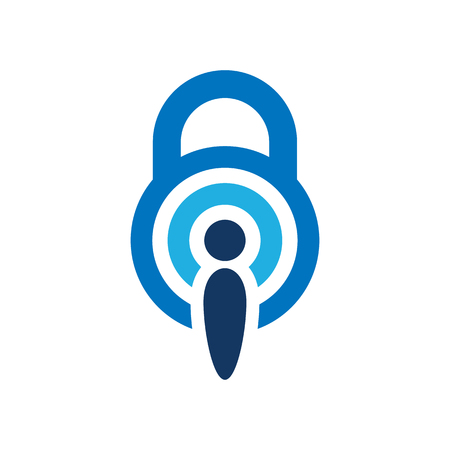 Signal Lock Logo Icon Design