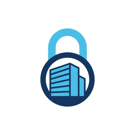 Building Lock Logo Icon Design Stock Vector - 101699052