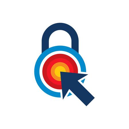 Touch Lock Logo Icon Design