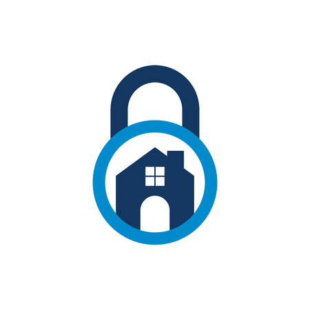Home Lock Logo Icon Design