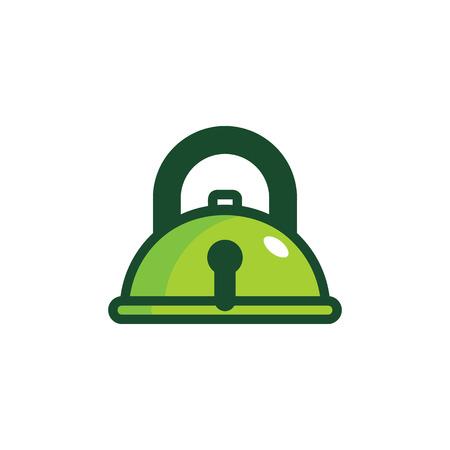 Food Lock Logo Icon Design 向量圖像
