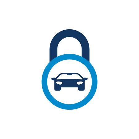 Car Lock Logo Icon Design