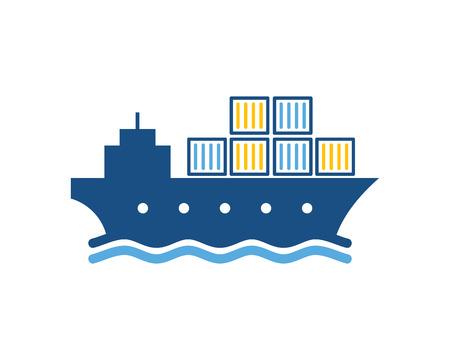 Conception d & # 39; icône de logo logistique d & # 39; expédition