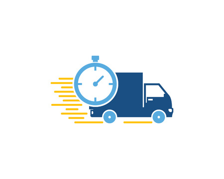 Time Logistic Logo Icon Design