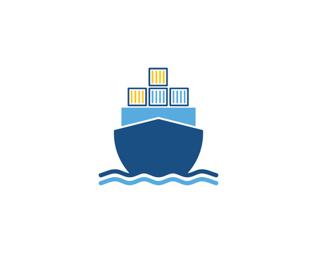 Cargo Logistic Logo Icon Design Illustration