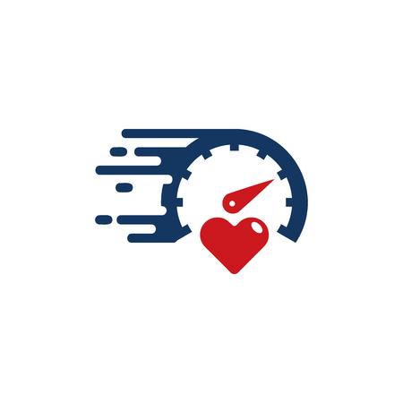 Diseño de icono de logotipo de amor rápido