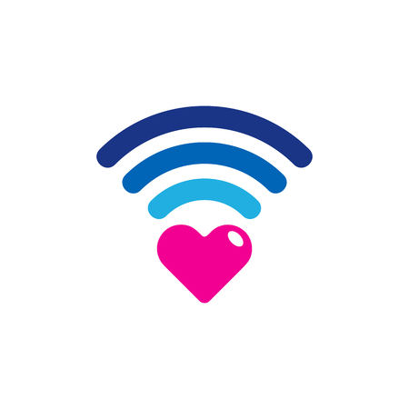 Wifi Love Logo Icon Design