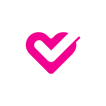 Check Love Logo Icon Design