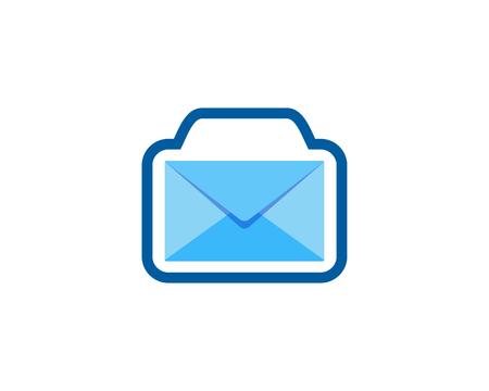 Camera Mail Icon Logo Design Element