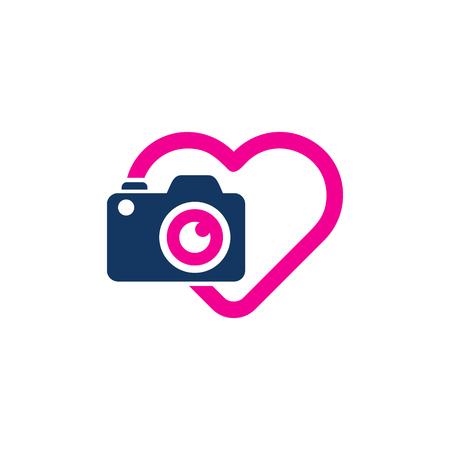 Camera Love Logo Icon Design