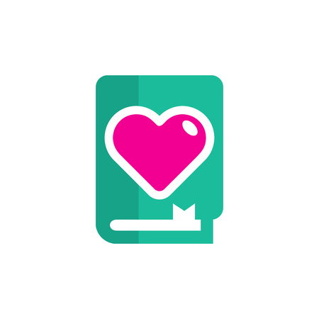 Book Love Logo Icon Design 일러스트