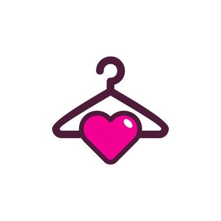 laundry Love Logo Icon Design Illustration