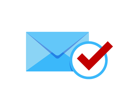 Check Mail Icon Logo Design Element