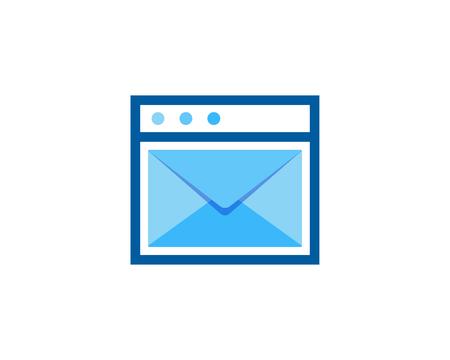 Laundry Mail Icon Logo Design Element