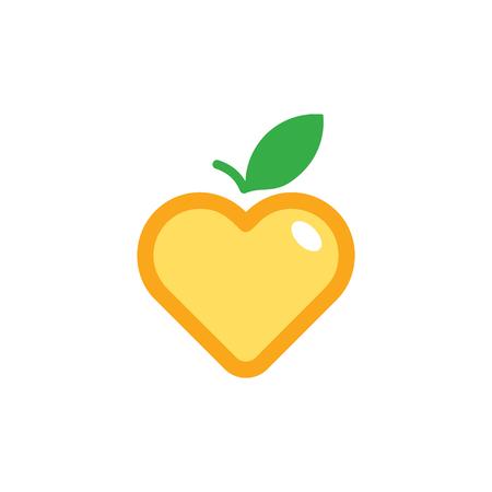 Fruit Love Logo Icon Design