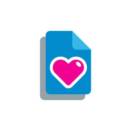 Document Love Logo Icon Design