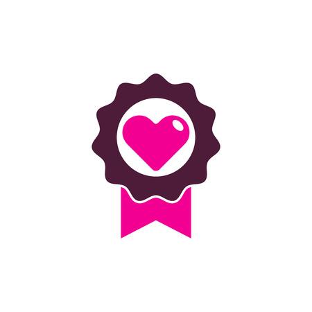 Best Love Logo Icon Design Illustration