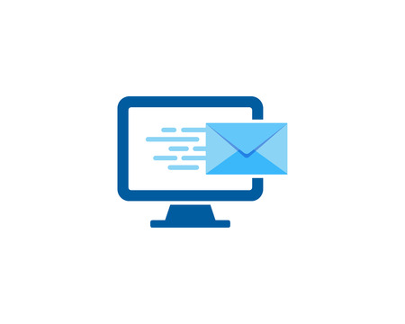 Desktop Mail Icon Logo Design Element