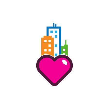 Town Love Logo Icon Design