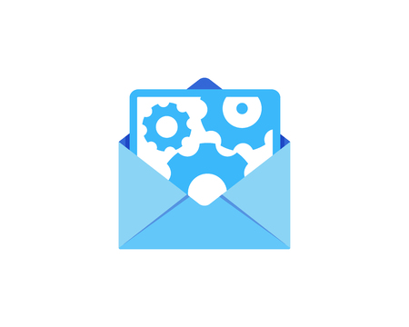 Gear Mail Icon Logo Design Element