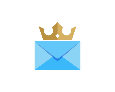 King Mail Icon Logo Design Element Stock Vector - 101700092