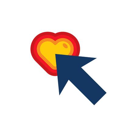 Touch Love Logo Icon Design Stock Illustratie