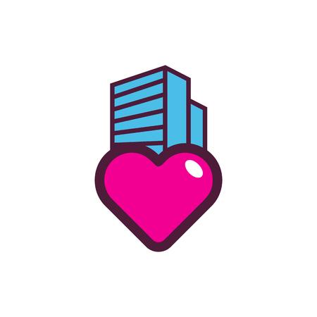 Building Love Logo Icon Design