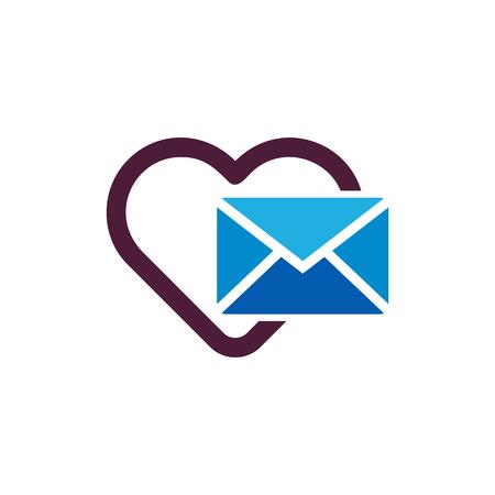 Mail Love Logo Icon Design