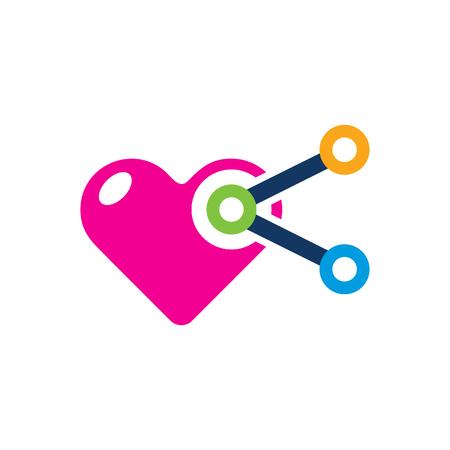 Share Love Logo Icon Design